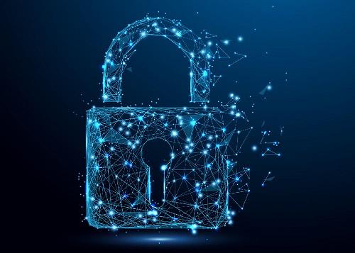 IT-Sicherheit Symbolbild grafisches Schloss