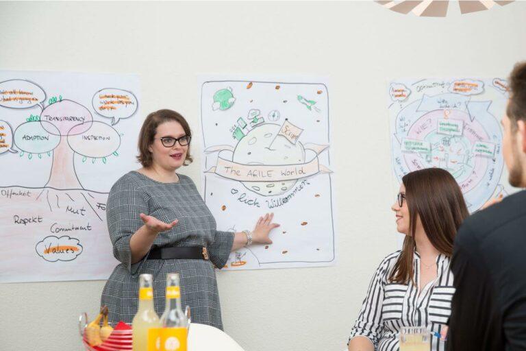 Katja erklärt die agile Welt und wie wichtig ein Netzwerk ist