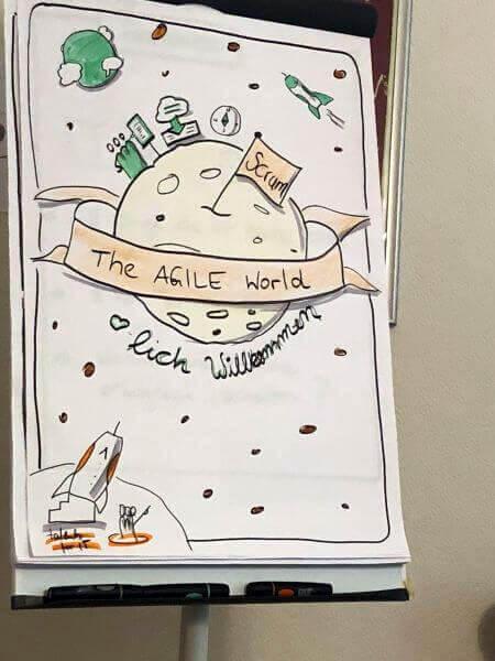 Sketchnote einer agilen Welt