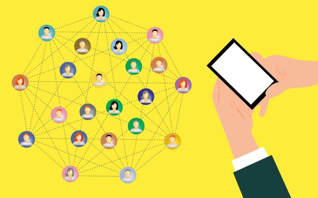 Digitale Vernetzung von Menschen